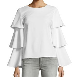 Brand new English factory Ruffle tiered sleeve top